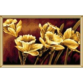 J013 goldene malerei mit blumen-design großhandel diy malen mit Zahlen