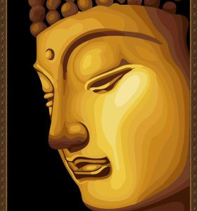 wholesales diy oil painting with numbers golden painting buddha painting