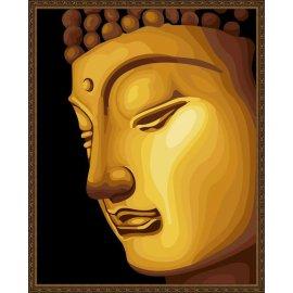 großhandel diy Ölgemälde mit Zahlen goldene malerei buddha gemälde