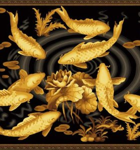 wholesales diy oil paint by numbers golden fish design coloring by numbers