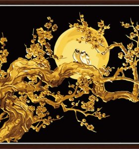 wholesales diy oil painting golden flower painting by numbers large size golden painting