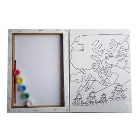 malen kunst gesetzt Ölgemälde leinwand für weihnachten geschenk verwenden