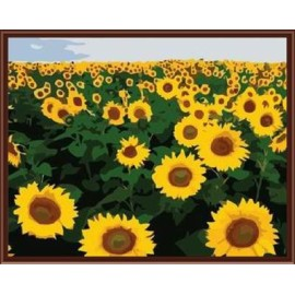 sgs ce yiwu manufactor hand bemalt diy digitalen Öl malen nach zahlen sonnenblumen design