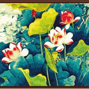 canvas oil painting art diy oil painting by numbers abstract paintings flowers painting by number GX6187