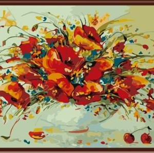 canvas oil paintings,diy painting by numbers new flower design GX6361