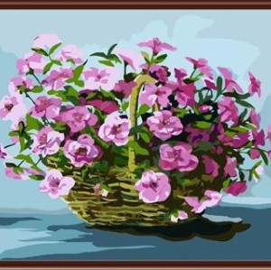 hot selling craft gift coloring by numbers diy wholesale craft flower photo GX6403