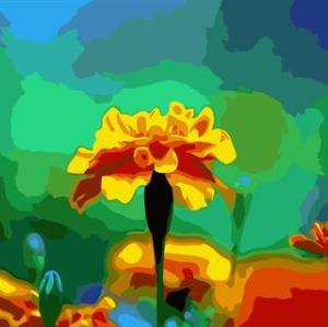 abstract digital painting by numbers GX6665 flower picture still life painting