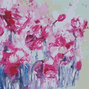 abstract digital painting by numbers GX6667 flower picture still life painting