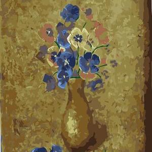 abstract digital painting by numbers GX6659 flower and vase picture still life painting