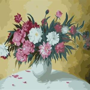 abstract digital painting by numbers GX6662 flower and vase picture still life painting
