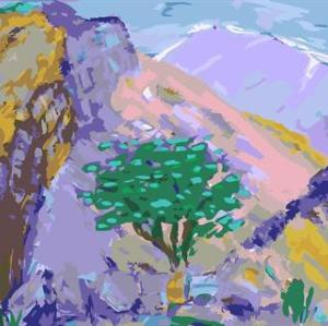 landscape tree design canvs oil paint by number GX6677