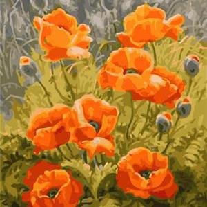 canvas oil painting by numbers with flower picture new design 2015 GX6741