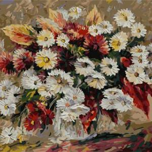 digital oil painting astract painting by numbers with flower picture 2015 new design GX6752