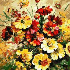 handmaded digital oil painting on canvas 2015 factory new design red flower still life GX6746