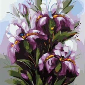 diy painting by numbers flower picture artist oil color set for beginners GX7074