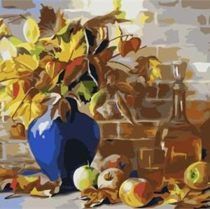 still life flower with vase oil painting by number 2015 factory hot selling picture GX6767