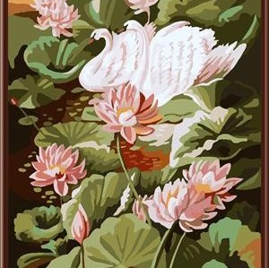 GX6824 flower design painting on canvas diy paint by numbers