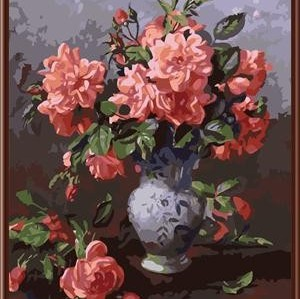 oil handmaded painting by numbers paint boy brand GX6829 still life flower with vase design