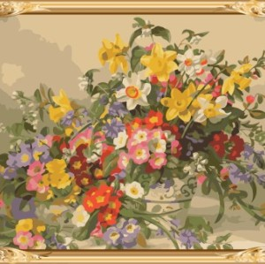 wall decoration frame oil paint by numbers on canvas GX7236