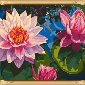 GX7282 yiwu wholesales flower photo abstract paint by numbers with wooden frame