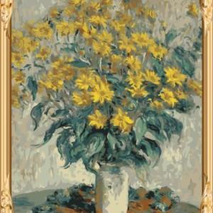 GX7454 chrysanthemum flower digital oil painting for home decor