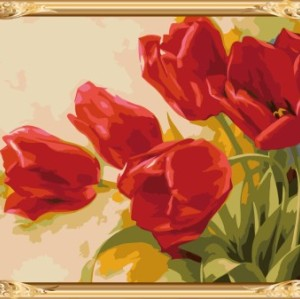 wholesales new wall art paint by number flowers canvas oil painting GX7531