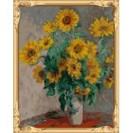 Gx7457 malen junge marke abstrakte sonnenblumen Ölbild nach zahlen-sets