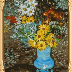 still life flower and vase canvas oil painting by numbers GX7479