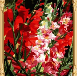 GX7484 flower oil painting by numbers