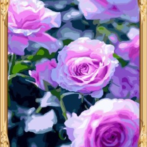 paint by number flowers wall art GX7517