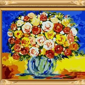 GX 7642 flower in vase digital oil on canvas paintings