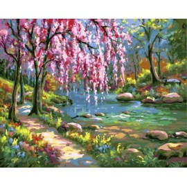 Gx7664 2015 neue heiße foto Landschaftsmalerei von zahlen-sets für den großhandel