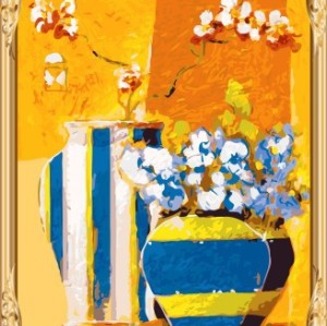 GX7456 yiwu wholesales still life flower oil painting by numbers kits