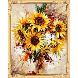 gx 7632 Zusammenfassung digitale sonnenblumen Ölbild für Wohnzimmer dekor
