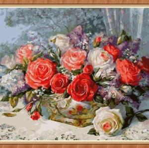 art crafts flower paintings by numbers wholesale GX7829