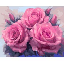 Gx7903 paintboy digital de DIY hermosas flores pinturas by números en la lona nueva