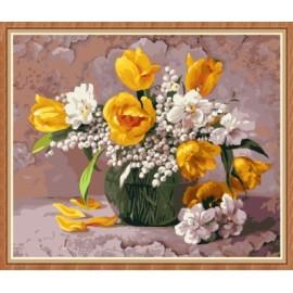 Hechos a mano de la flor abstracta pintura by números kit GX7858