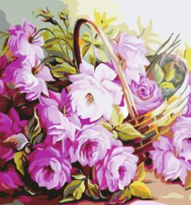 GX7916 paintboy DIY digital wall art flowers in vase modern painting on canvas framed for kids