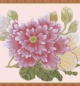 flower oil painting by numbers kit for home decor GX7872