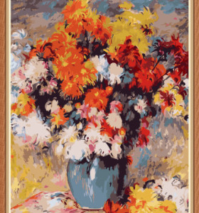 art suppliers flower canvas oil painting by numbers for wall decor GX7890