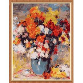 Art proveedores flor pintura al por números para decoración de la pared GX7890