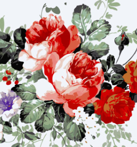 GX7948 flower oil painting drawing by numbers for wall decor