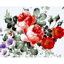 Gx7948 flor de dibujo pintura al óleo by números para decoración de la pared