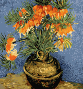 GX7949 flower in vase oil painting drawing by numbers for wall decor