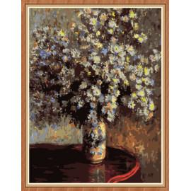 Arte de la pintura de la flor de la lona pintura by números para decoración de la pared GX7889