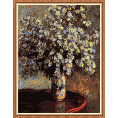 paint art flower canvas oil painting by numbers for wall decor GX7889