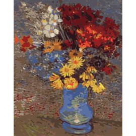 Gx7953 flor abstracta pintura al óleo by números para living room decor
