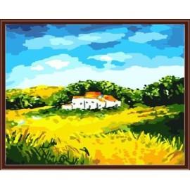 Großhandel sgs ce diy digitale 40*50 Landschaft gerahmte Ölgemälde auf leinwand gx6232
