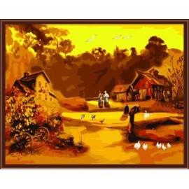 Großhandel sgs ce diy digitale 40*50 Landschaft gerahmte Ölgemälde auf leinwand gx6245