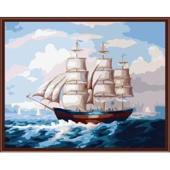 fabrik hot fotos malen nach zahlen auf leinwand mit seelandschaft schiff bild gx6276